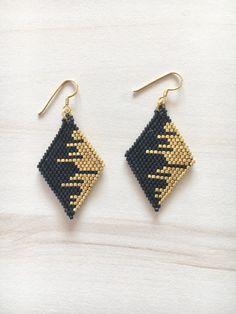 Rhombus Earrings  Miyuki Delica Beads Earring  by BellaJocalia