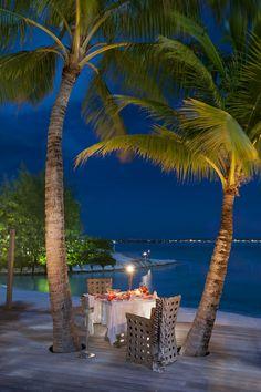 The St. Regis Bora Bora Resort— Royal Estate - Dinner on Terrace | by St. Regis Hotels and Resorts