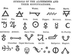 symbols of the alchemists and their significations / sigils
