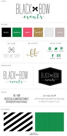 Black Bow Events Logo Design - Saffron Avenue : Saffron Avenue
