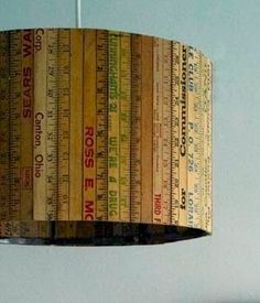 vintage ruler lighting... cool for a sewing/craft room