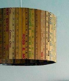 vintage ruler lighting... cool for a sewing/craft room