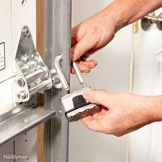 "Some people ""lock"" the overhead garage door when they go on vacation by unplugging the opener. That's a good idea, but physically locking the door is even better. An unplugged opener won't prevent ""fishing,"" and—if you have an attached garage—it won't stop a burglar who has entered through the house from opening the garage door from inside, backing in a van and using the garage as a loading dock for his plunder. Make a burglar's job more difficult and time-consuming by locking the door…"