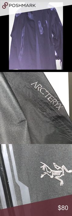 Men's authentic arcteryx jacket so much2 describe Posting this for My husband ok so this is a men's xxl will fit xl arcteryx jacket. Material feels like a think windbreaker probably water proof Hood is detachable Zipper under arms Zippers inside Reflective material on shoulders Symbol on chest name on arm Wrist Velcro adjustable  This jacket was almost $300 bought at rei mint condition Smoke pet free home   Get it for a steal I do bundle arcteryx Jackets & Coats Performance Jackets