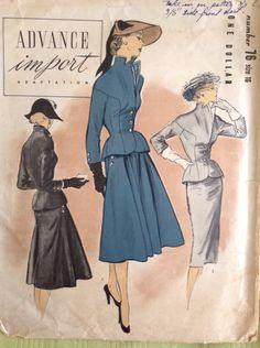 Vintage look fashion patterns 57 super Ideas Moda Vintage, Vintage Mode, Vintage Dress Patterns, Clothing Patterns, Style Patterns, Vintage Outfits, Vintage Dresses, 1950s Style, 1950s Fashion