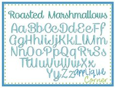 Off INSTANT DOWLOAD 1314 Roasted Marshmallows Font bx, jef, pes and dst only digital design for embroidery machine by Applique Corner