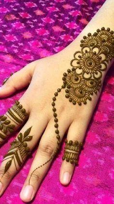 Mehndi Designs For Kids, Finger Henna Designs, Back Hand Mehndi Designs, Mehndi Designs Book, Mehndi Designs For Beginners, Mehndi Designs For Fingers, Latest Mehndi Designs, Mehandi Designs, Henna Designs Feet