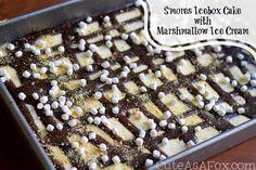 S'mores Icebox Cake with Marshmallow Ice Cream