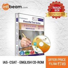 IAS- CSAT CD-ROM at Lowest Rate from Infibeam's MagicBox !   Assuring Lowest Price in Magic Box Deals!   HURRY ! OFFER ENDS TODAY MIDNIGHT !  #MagicBox #Deals #DealOfTheDay #Offer #Discount #LowestRates #IAS #CSAT #CD #ExamMaterial #StudyMaterial #CDROM