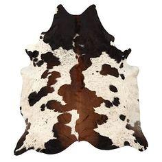 Black and Brown Spotted Cowhide Rug  #pbteen