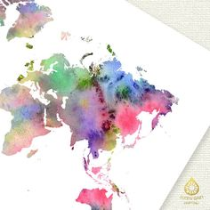World map watercolor world map word map art world map wall decor world map watercolor world map word map art world map wall decor world map world map download world map outline world map asia pinterest word map gumiabroncs Images