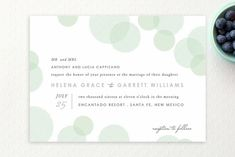 Blissful Bokeh Wedding Invitations by Design Lotus at minted.com
