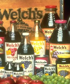 Throwback thursday Welch's products in the Welch Juice, Salsa, Jar, Drinks, Bottle, Retro Ads, Throwback Thursday, Recipes, Folk Art