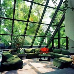 Jaw dropping atrium & green modular sofa, Noguchi coffee table Jaw dropping atrium & green modular sofa, Noguchi coffee table The post Jaw dropping atrium Home Interior Design, Exterior Design, Interior Architecture, Interior And Exterior, Interior Garden, Roman Architecture, Interior Design Sitting Room, Interior Paint, Natural Architecture