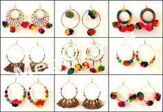 Designer Bali POM POM EARRINGS Retail : https://www.craftnfashion.com Whatsapp : 9375519381 E-mail : craftnjewelery@gmail.com