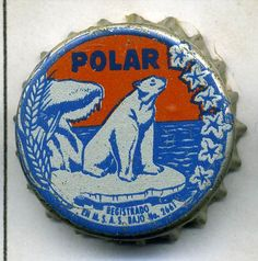 Chapa de Cerveza POLAR,años 50,Venezuela