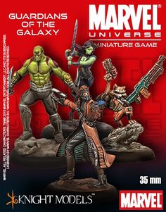 Marvel Universe Miniature Game Guardians of the Galaxy Starter Set | Nerdvana Gaming