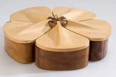 Bespoke jewellery box in walnut and holly by furniture designer Paddy Howlett at Makers' Eye   Makers' Eye