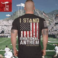 I stand up for our national anthem! Check out one of our newest pre-orders.   #nationalanthem #Istand #ninelineapparel