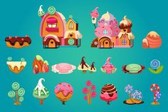 Candy land by TopVectors on @creativemarket