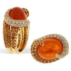 Rodney Rayner mandarin garnet,sapphire and diamonds