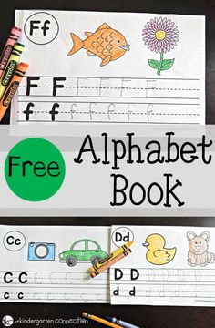 A Free Printable alphabet book perfect for preschool and kindergarten classrooms. This can be used for letter of the day or as extra literacy and alphabet practice. Preschool Letters, Learning Letters, Preschool Kindergarten, Preschool Learning, Letters Kindergarten, Letter Recognition Kindergarten, Ec 3, Lettering, Preschool Activities