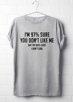 I'm 97% You Don't Like Me But I'm 100 I Don't Care, Best T-Shirt, Attitude T-Shirt by 13SameOnly on Etsy