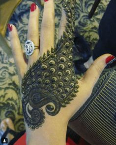 peacock mehndi design
