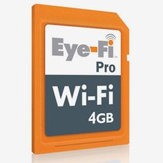 Eye-Fi Pro SDHC : Wirelessly transfer your JPEG and RAW files to upload to your computer or the web. Geotags your photos via SkyHook. Computer Network, Cooking Gadgets, Computer Technology, Cooking Light, Retail Therapy, Wonderful Things, Sd Card, Computer Accessories, 3 D