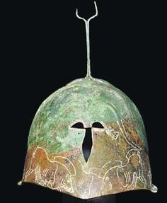 Apulian-Corinthian helmet, 6th/5th century B.C. Confronted boars Private collection