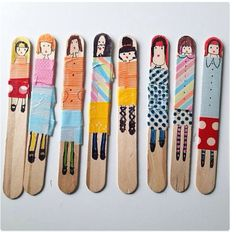 Adorable Craft Stick People from Molly Moo