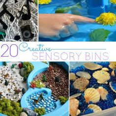 20 Creative Sensory Bins to Help Your Preschooler Explore their Senses - so many ideas!
