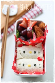 Bento, Monsters: Hello Kitty Sandwich and Rice Roll