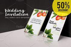 50%OFF  Botanical Wedding Invitation  @creativework247