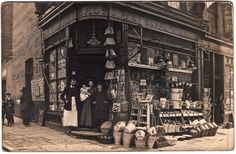 Williams Bros, Ironmonger, 418 Caledonian Rd - Philip Mernick's East London Shopfronts spitalfieldslife Victorian London, Victorian Photos, Vintage London, Old London, Antique Photos, East London, Vintage Photographs, Vintage Shops, Victorian Era