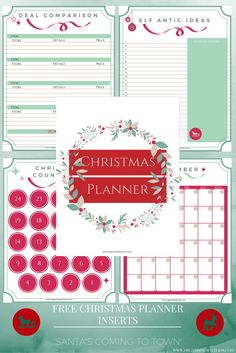 12 Days of Christmas: Christmas Planner Inserts   Organising My Chaos