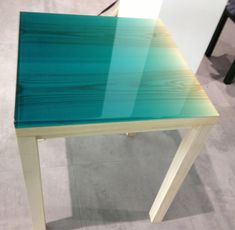 A stunning table from the new resin series, 'Iro' by Jo Nagasaka for Vivid Interval at Established & Sons #LDF13 http://t.co/nDUUVpvnMZ