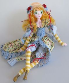 TILLY Country Pixie paper clay ball jointed doll by Kaeriefaerie52, $95.00