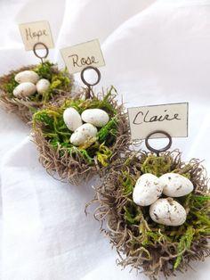 Marque place DIY - Inspiration champêtre #GrenierAlpin #Pâques #Table #déco #Home