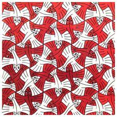 M C Escher Tessellations Mc Escher Tessellations, Tessellation Art, Escher Kunst, Escher Art, Plane Drawing, Tesselations, Dutch Artists, Op Art, Geometric Patterns