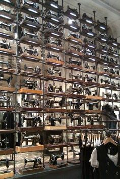 like all the sewing machines. went into store in Chicago. very cool. i think i know where all vintage sewing machines end up, Spitalfields!
