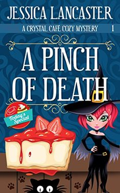 A Pinch of Death (Crystal Café Cozy Mystery Book by [Lancaster, Jessica] Best Mysteries, Cozy Mysteries, Murder Mysteries, Love Book, Book 1, Books To Read, My Books, Mystery Books, Book Nooks