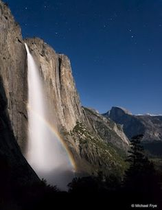 I've been teaching a private workshop the last two days, so it's taken me a while to process my images from last weekend's lunar rainbow madness festivities in Yosemite, but here's one from Friday night with Upper Yosemite Fall and Half Dome in the background.    I'd photographed a lunar rainbow from this spot in 1996, but back then I didn't have a wide enough lens on my Mamiya 645 to include Half Dome...  展开此信息 »