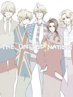Hetalia (ヘタリア) - The United Nations - America, England, France, China, Russia
