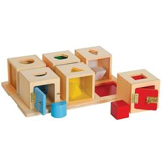 Guidecraft G5058 Peekaboo Lock Boxes Set of 6, Stacking Blocks - Amazon Canada