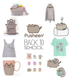 """""""Pusheen: Ready to Learn!!"""" by cheyanne-lee-1 ❤ liked on Polyvore featuring Pusheen, contestentry and PVxPusheen"""
