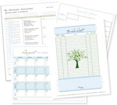 Free Life Management Notebook Printables
