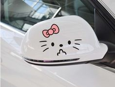 2pcs/lot  Hello Kitty Cartoon Car Rearview Mirror Stickers Lada Cars Decoration  Car Accessories  $3.50