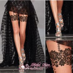 Womens sexy Lace Pattern Style Tattoo