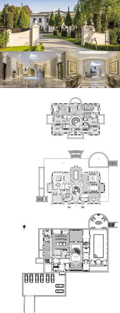 1405 Best Castles and Estate Home Plans images in 2019
